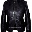 NWT Women's Mandarin Collar Leather Jacket Style 2440