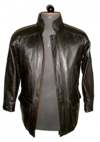 """Men's Big & Tall Cargo Pocket Style Leather jacket Style M55 Size Big 4X 56"""" chest"""