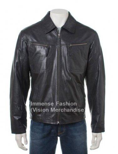 Men's Bomber Leather Jacket Style MD-45