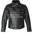 Men's Street Biker Leather Jacket Style MD-106