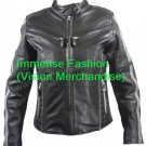Men's Euro Biker Leather Jacket Style MD-60