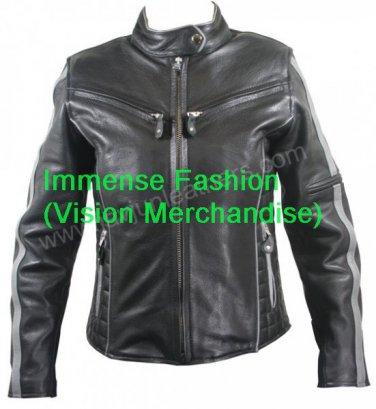 Men's Euro Biker Leather Jacket Style MD-60