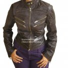 NWT Women's Biker Series Leather Jacket Style FS-166