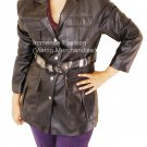 NWT Women's Trench Style Leather Blazer Style FS-132