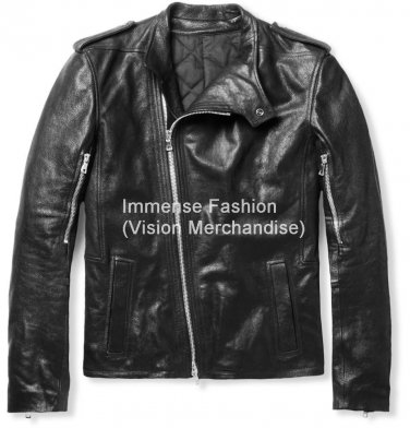 NWT Men's Biker Leather Jacket Style MD-126