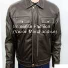 NWT Men's Bomber Leather Jacket Style MD-90 Big & Tall Sizes