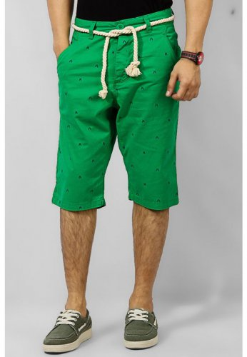 Men's Yellow Bilbao Cotton Regular Fit Men Short