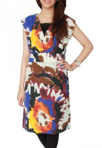 Women's House of Brands Zara Basic Multi Colored Cotton Sleeveless Tunic