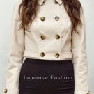 NWT Women's Cropped Leather Blazer Style 3667