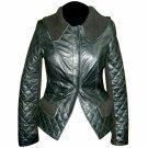 Women's Peplum style Leather Jacket Style FS-188