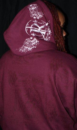 Burgundy Zip Up Hoodie