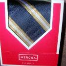 Mens Silk Necktie Tie Merona Navy Blue NIB