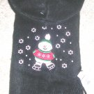Womens Snowman Black Scarf and Hat Set NWT