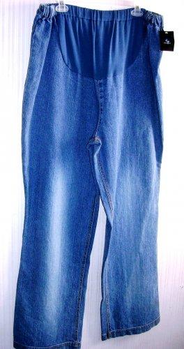 Maternity Jeans Denim Pants Capri New Additions Large