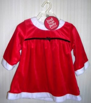 Christmas Carter's Just One Year Santa Dress 6-9 months