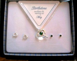 May Heart Necklace & Earring Set New In Box