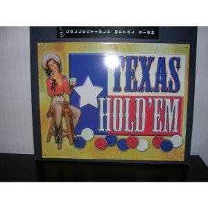 Tin Metal Collectible Sign Texas Holdem NEW