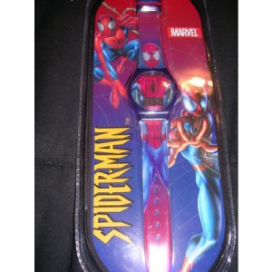 Spiderman Marvel Kids Childs Watch Wristwatch Red Band