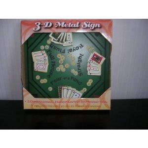 Tin 3d Metal Sign Poker