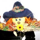 Fall Shelfsitter Shelf Sitter Door Topper Scarecrow New