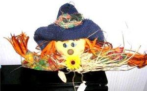 Fall Shelfsitter Shelf Sitter Door Topper Scarecrow New
