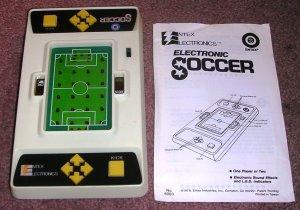 Vintage Handheld Electronic Soccer by Entex