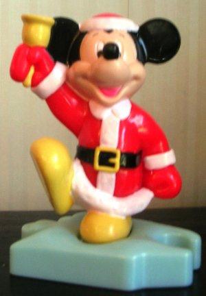 McDonalds Mickey Mouse  as Santa on Puzzle Base
