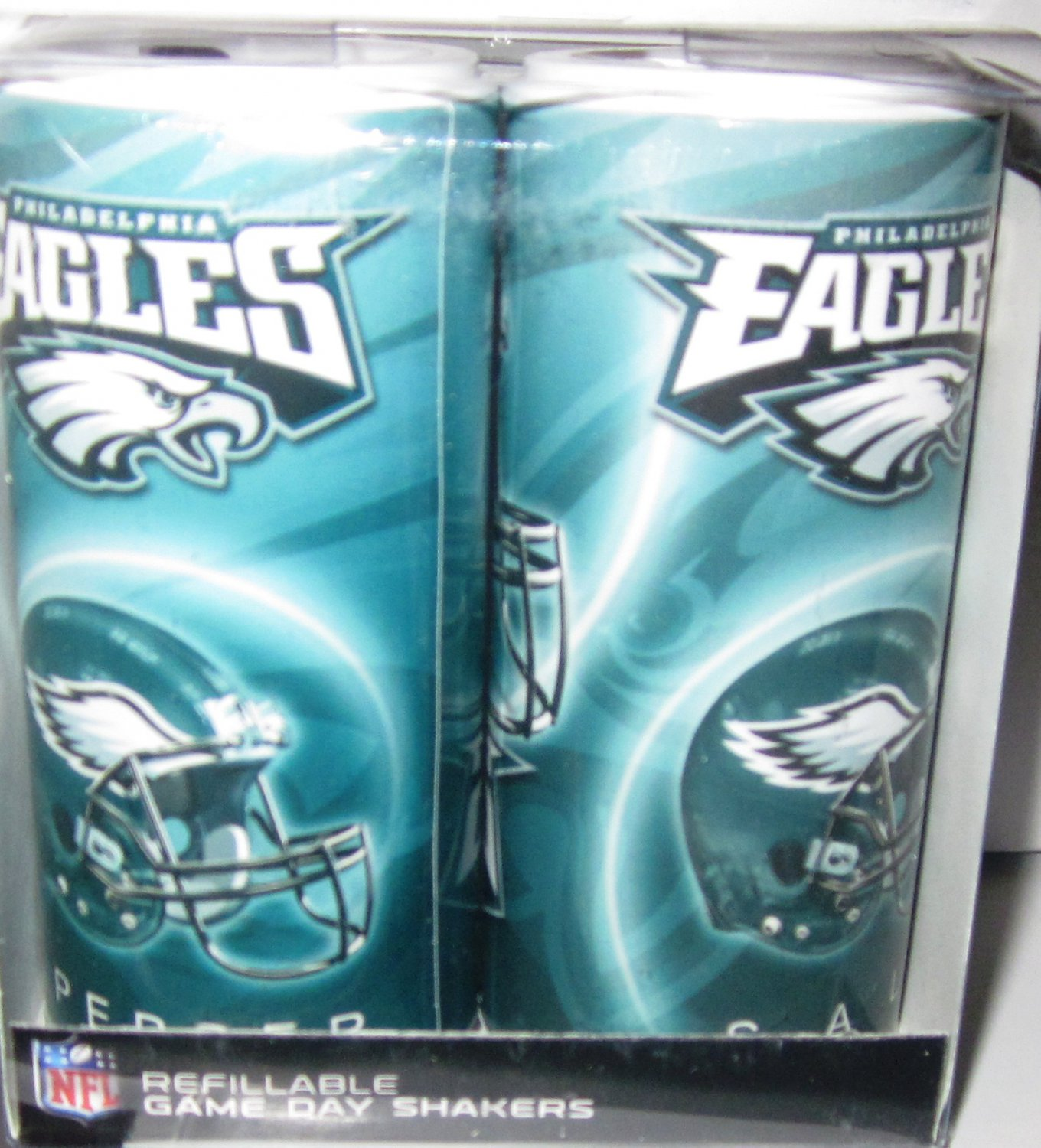Philadelphia Eagles Refillable Game Day Salt and Pepper Shakers