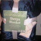Sherpa Blanket 60 X 50 Blue
