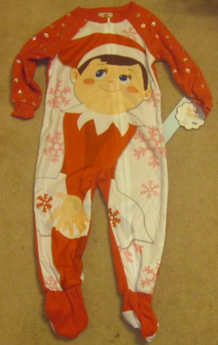Elf On Shelf Footie Zippered Pajamas Pjs 3T