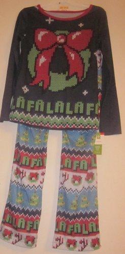 Sleepwear Christmas Pajamas Pjs 2X XXLarge Wreath