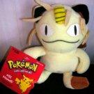 Vintage Orignal Pokemon Meowth Beanie Plush Stuffed