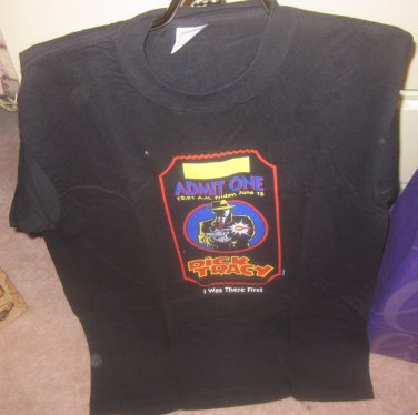 Dick Tracy Admit One Tshirt Large