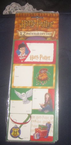 Harry Potter Peel n Stick Gift Tags 12 gift stickers