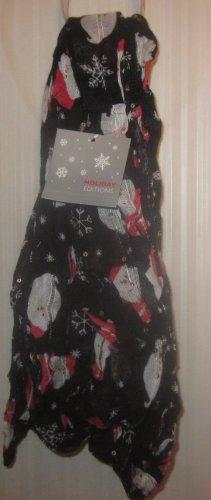 NWT Womens Black Christmas Santa Infinity Scarf Holiday Editions
