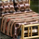 3PC Grecas Brown Geometric QUEEN Fleece Bedding Set CBQ0706