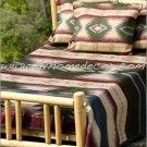 Southwestern Green Yuma Geometric TWIN Fleece Blanket CB2114