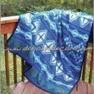 Southwestern Santa Ana Blue Geo-Fleece TWIN Blanket CB2122