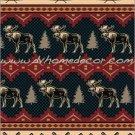 Southwestern Moose Fever Rustic Fleece TWIN Blanket CBCB2126