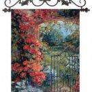 "Abundant Spring Floral English Garden Tapestry Wall Hanging 33"" x 43"""