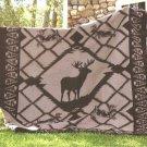 Southwestern Deer Fever Rustic Cabin Fleece TWIN Blanket CBCB2133