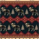 3PC Moose Fever Southwest QUEEN Fleece Blanket Bedding Set CBQ2126