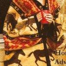 """Horse Adventure Western Fleece Blanket Throw 50"""" x 60"""" ERT-horseadvent"""