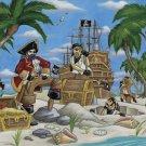 C864 Pirates Treasure of the Caribbean Wall Mural 13 x 8