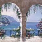 C834 Mediterranean Arches Tuscan Wall Mural 13 x 8
