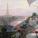 C867 Paris Dinner on the Terrace Wall Mural 13 x 8