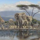 C832 Gathering Place Exotic African Safari Wall Mural 13 x 8