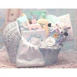 Welcome Baby! Baby Bassinet Gift Basket Case Pack 1