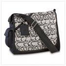 Snakeskin Messenger Bag