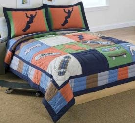 Cool Skate Full / Queen Quilt with 2 Shams